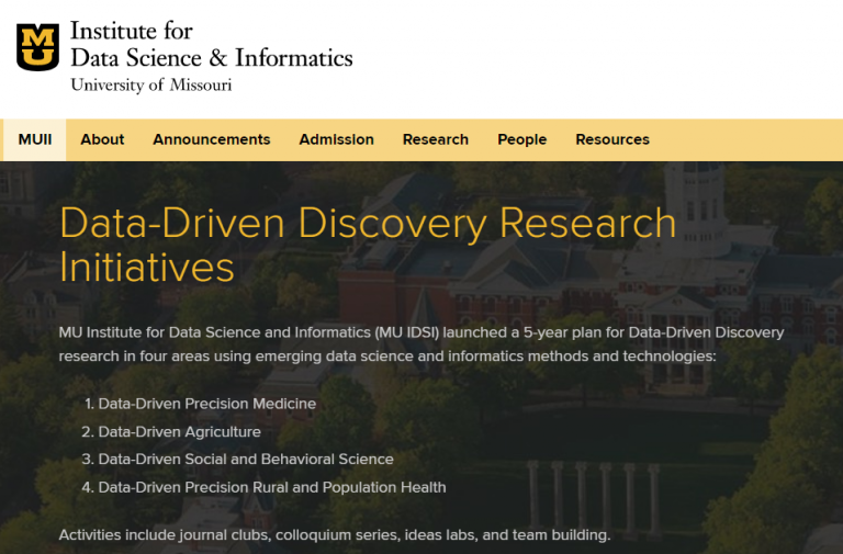 Institute for Data Science and Informatics